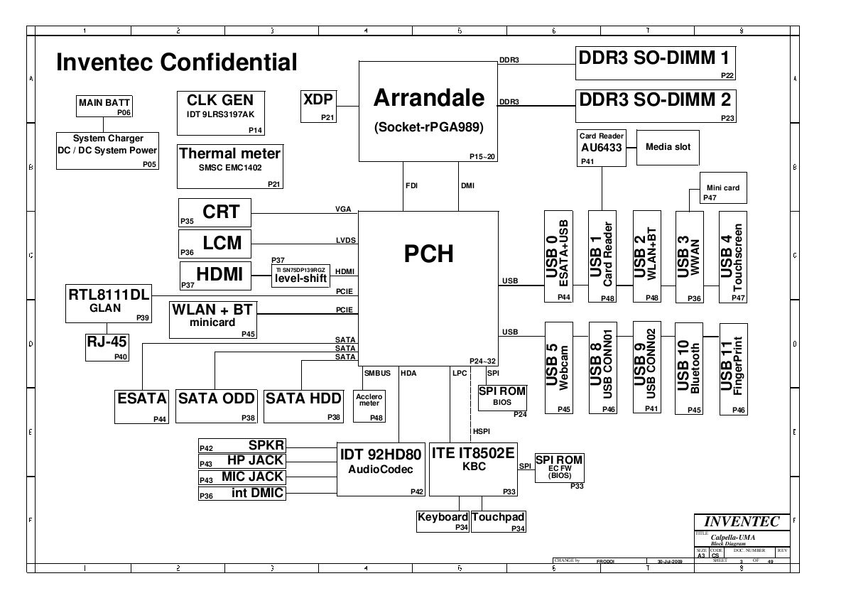 Schematics For Hp Pavilion Dv5  Ddr3  In The Online Store
